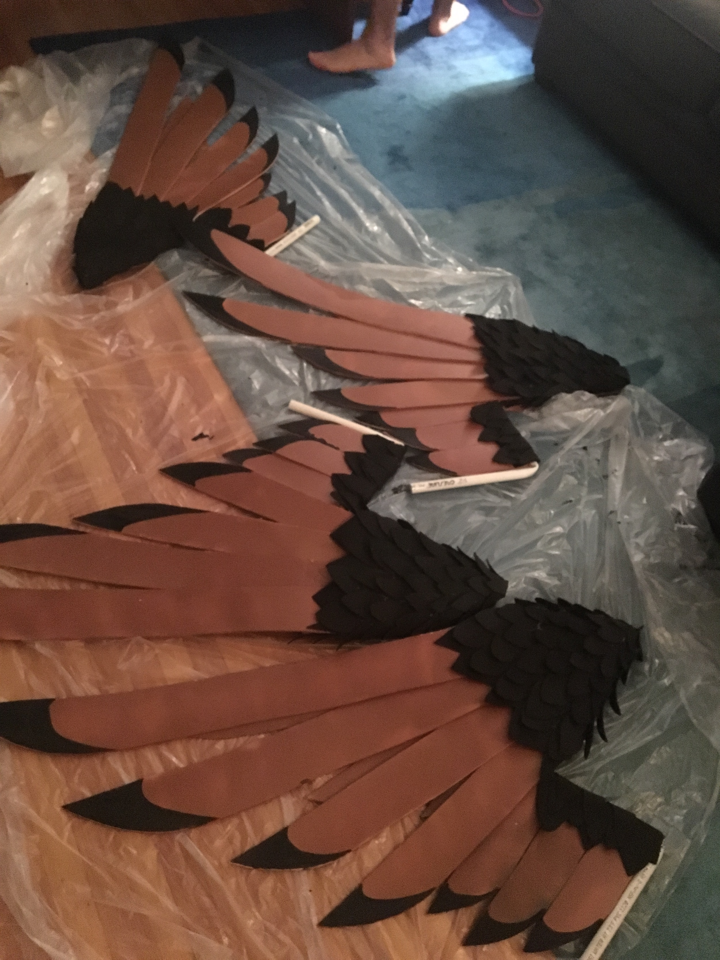 The final four wings, just before their detailing.